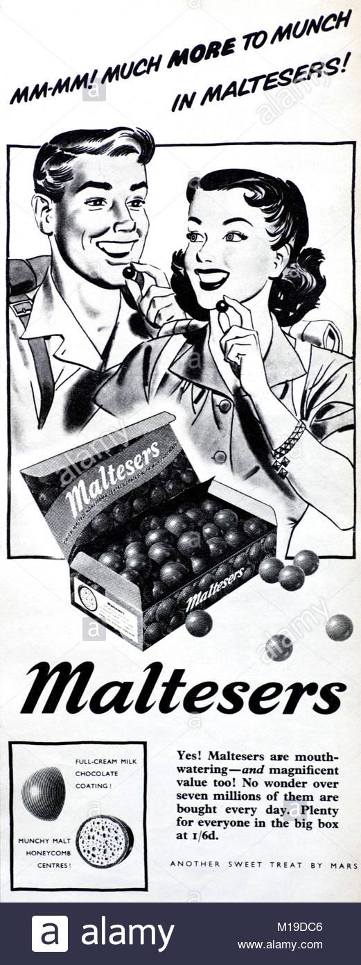 Image result for maltesers 1950