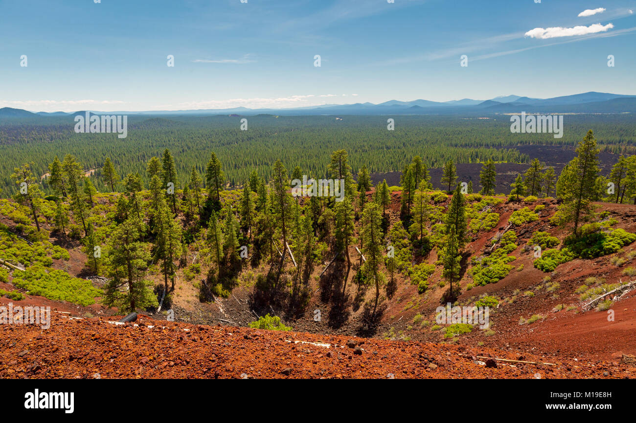 Lava Butte, Newberry National Volcanic Monument, Oregon, USA - Stock Image