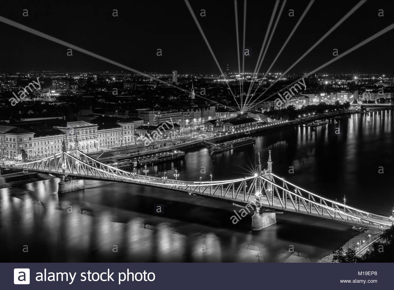 Liberty Bridge in Budapest. - Stock Image
