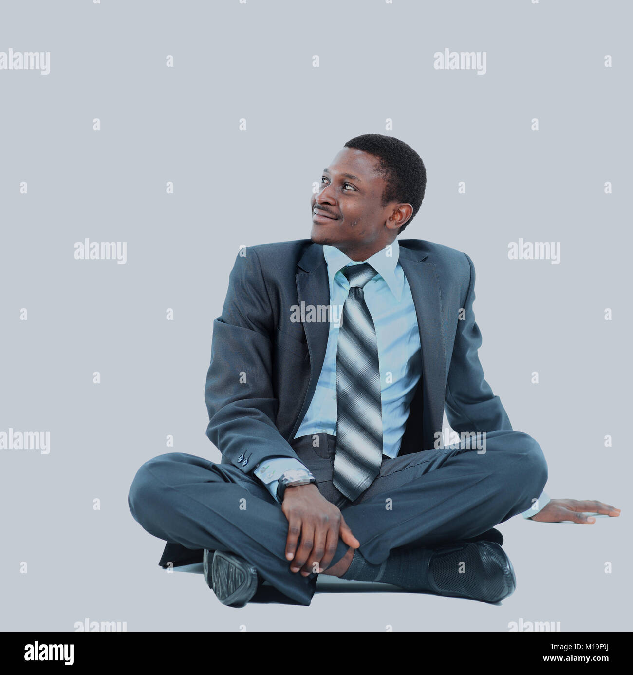 afro-american businessman relaxing - Stock Image