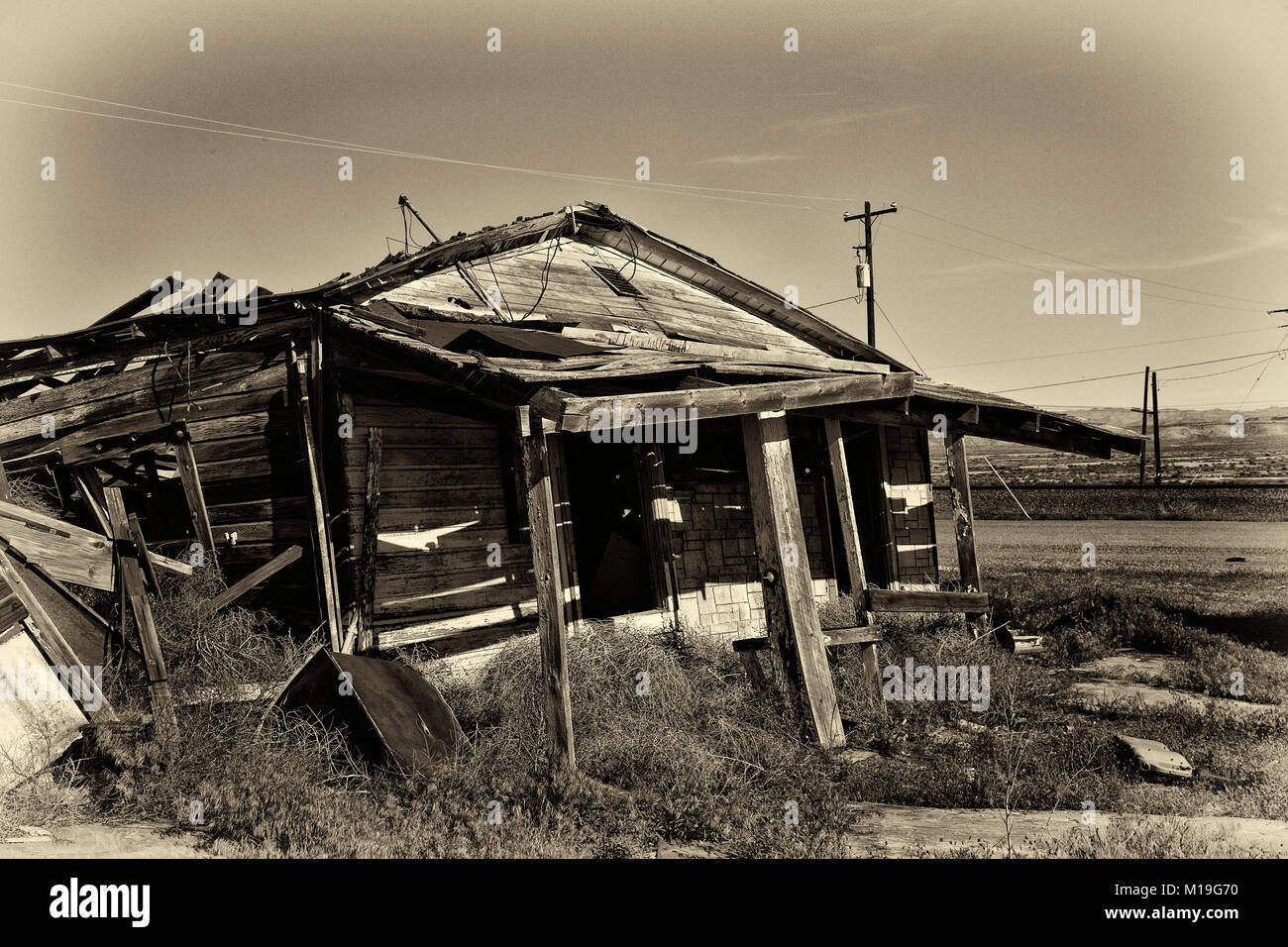 Old Ghost Town in Utah - Stock Image
