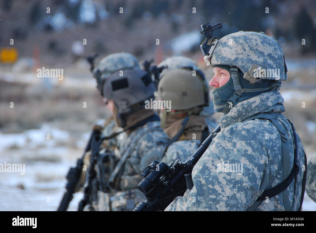 120215-Z-YY327-012 The Inglewood and Glendale based troops from the California Army National Guard's 1-160th Infantry, Stock Photo