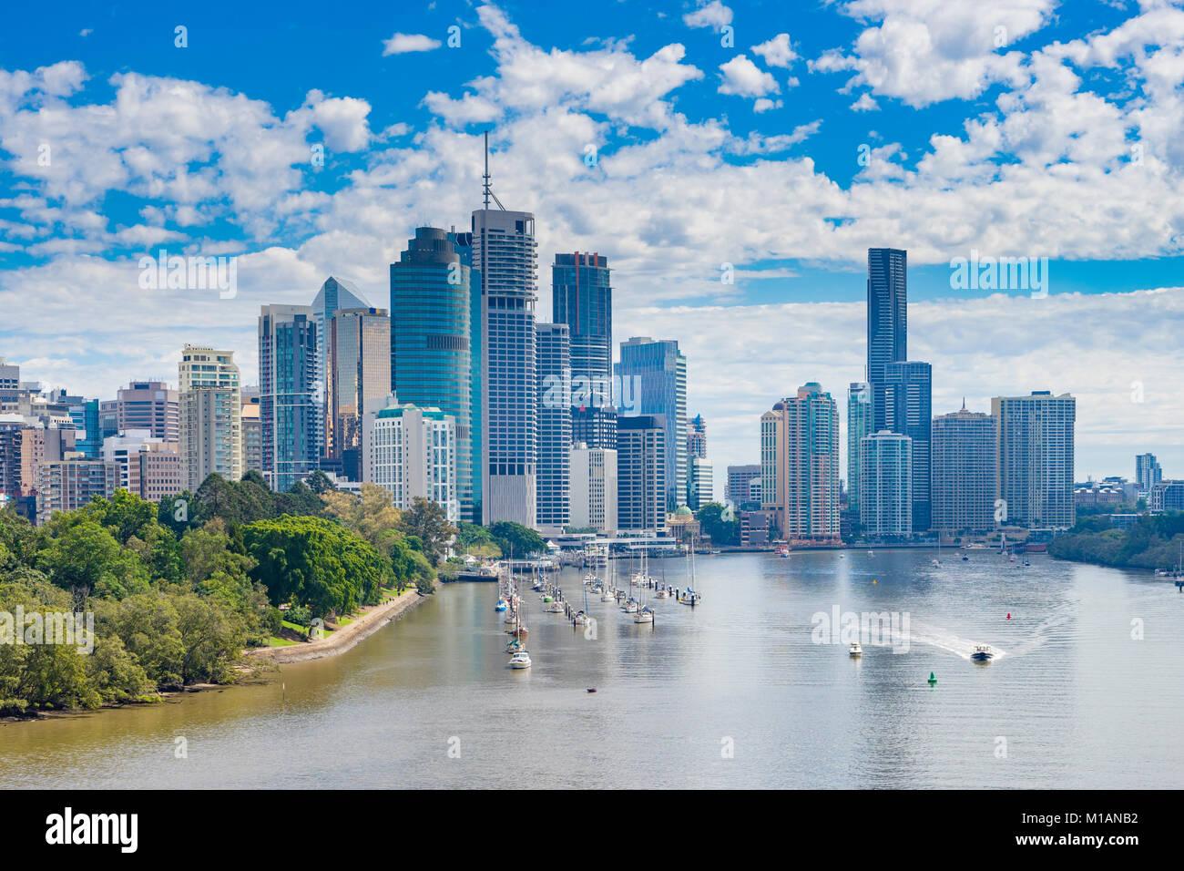 Brisbane CBD in daytime - Stock Image
