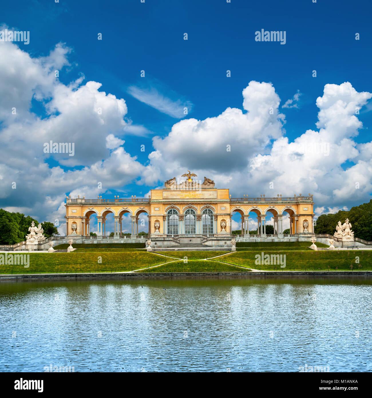 The Gloriette in Schoenbrunn Palace Garden, Vienna - Stock Image