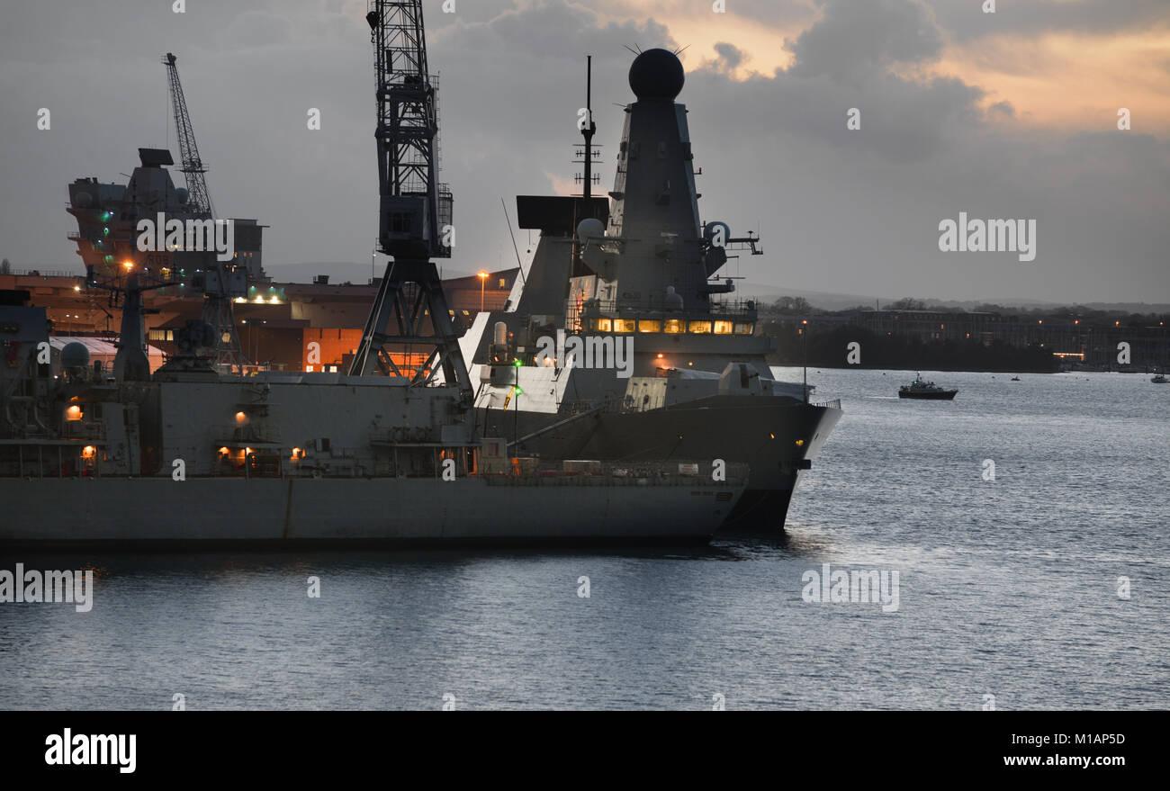 Portsmouth Naval Base - Stock Image
