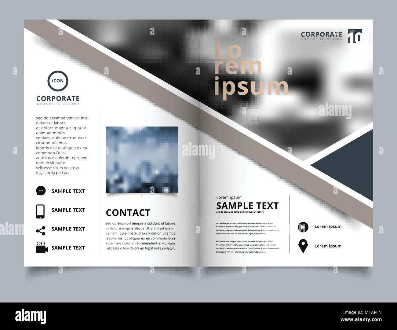 Brochure Geometric Layout Design Template Annual Report