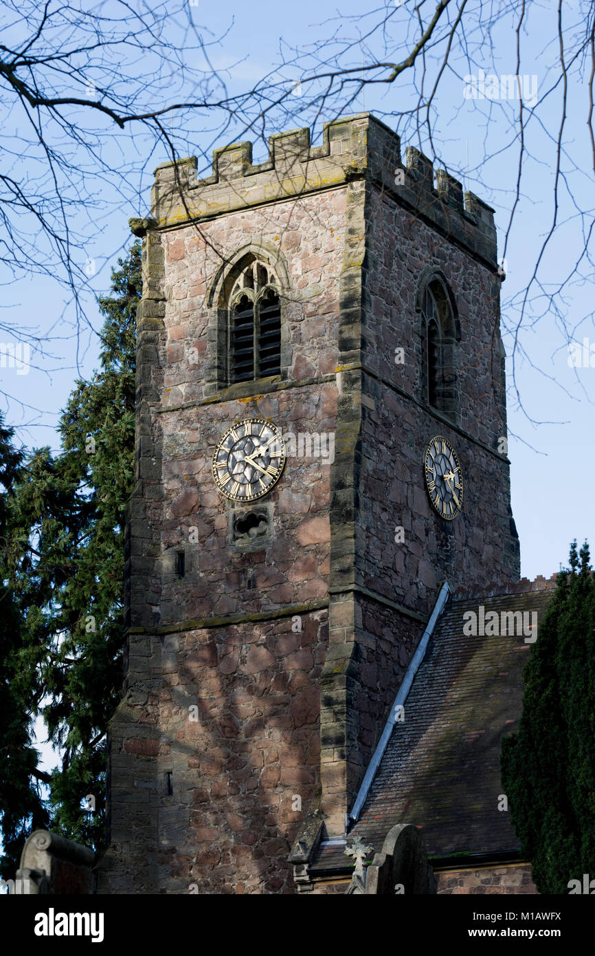St. Michael and All Angels Church, Croft, Leicestershire, England, UK - Stock Image