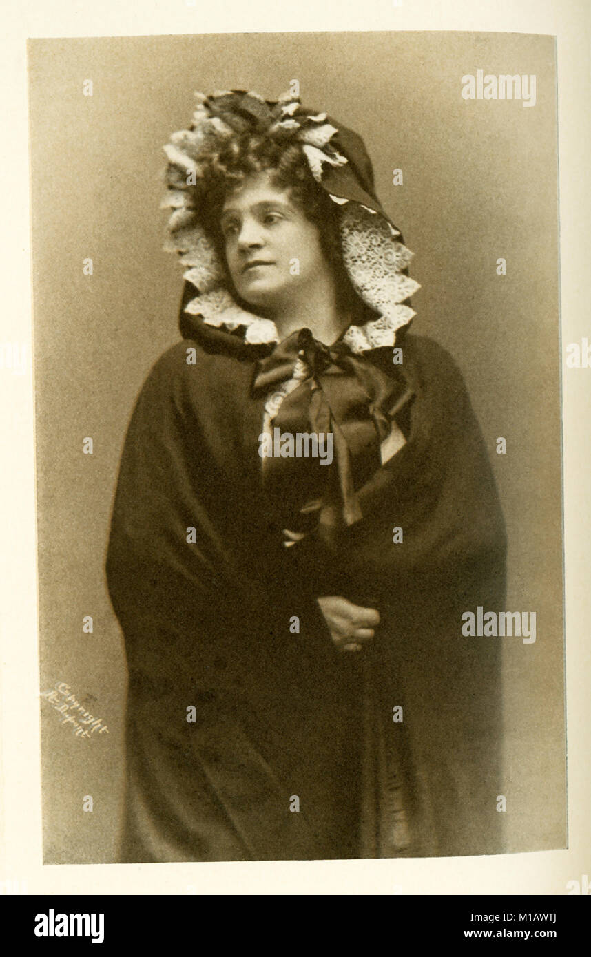 Shown here is Madame Marcella Sembrich as Mimi in La Boheme. Sembrich was a famous Polish prima donna who was born - Stock Image