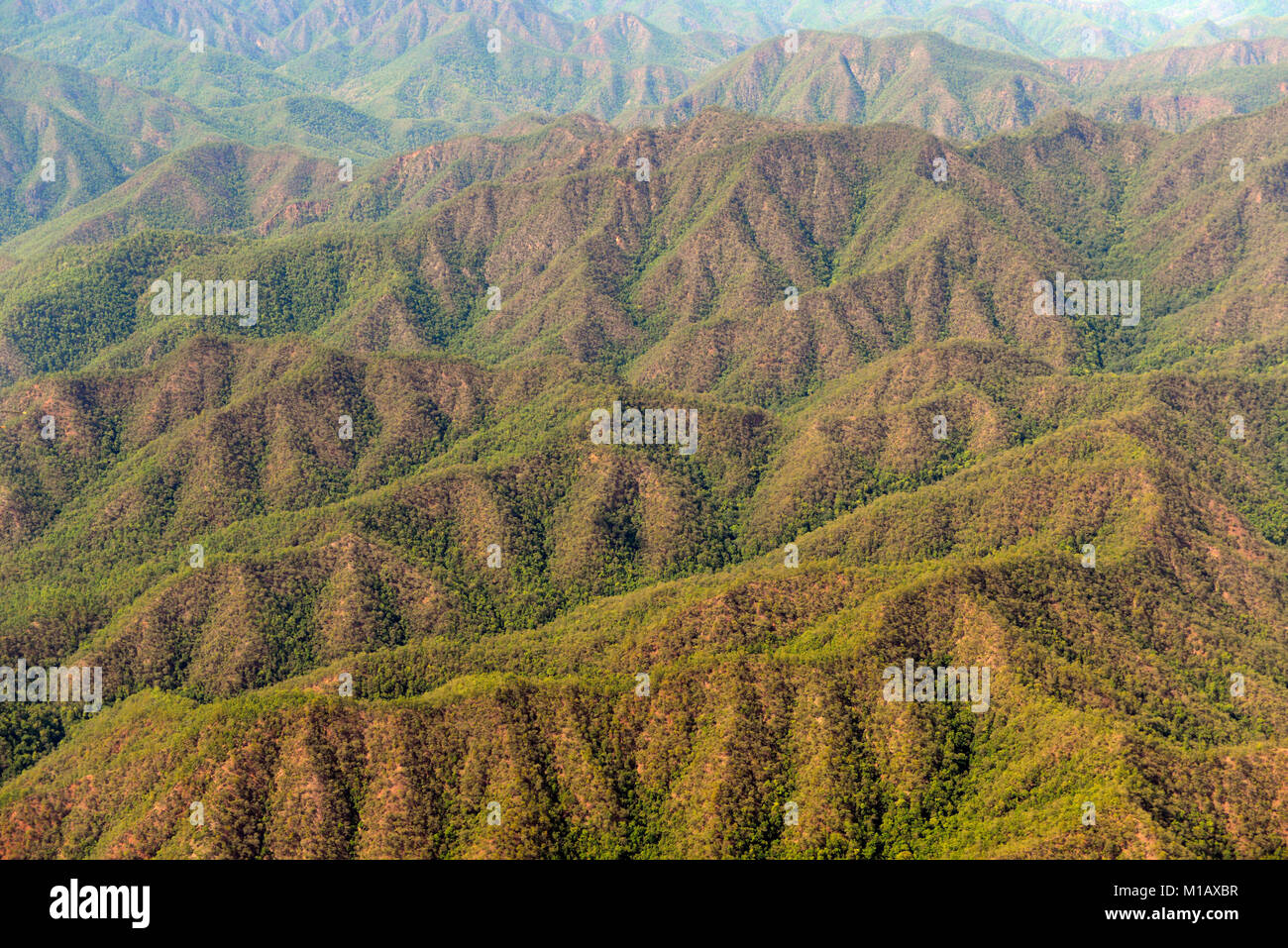 a Nature and mountain region from Chiang mai to Mae Hong Son in the north provinz of Mae Hong Son in the north of - Stock Image