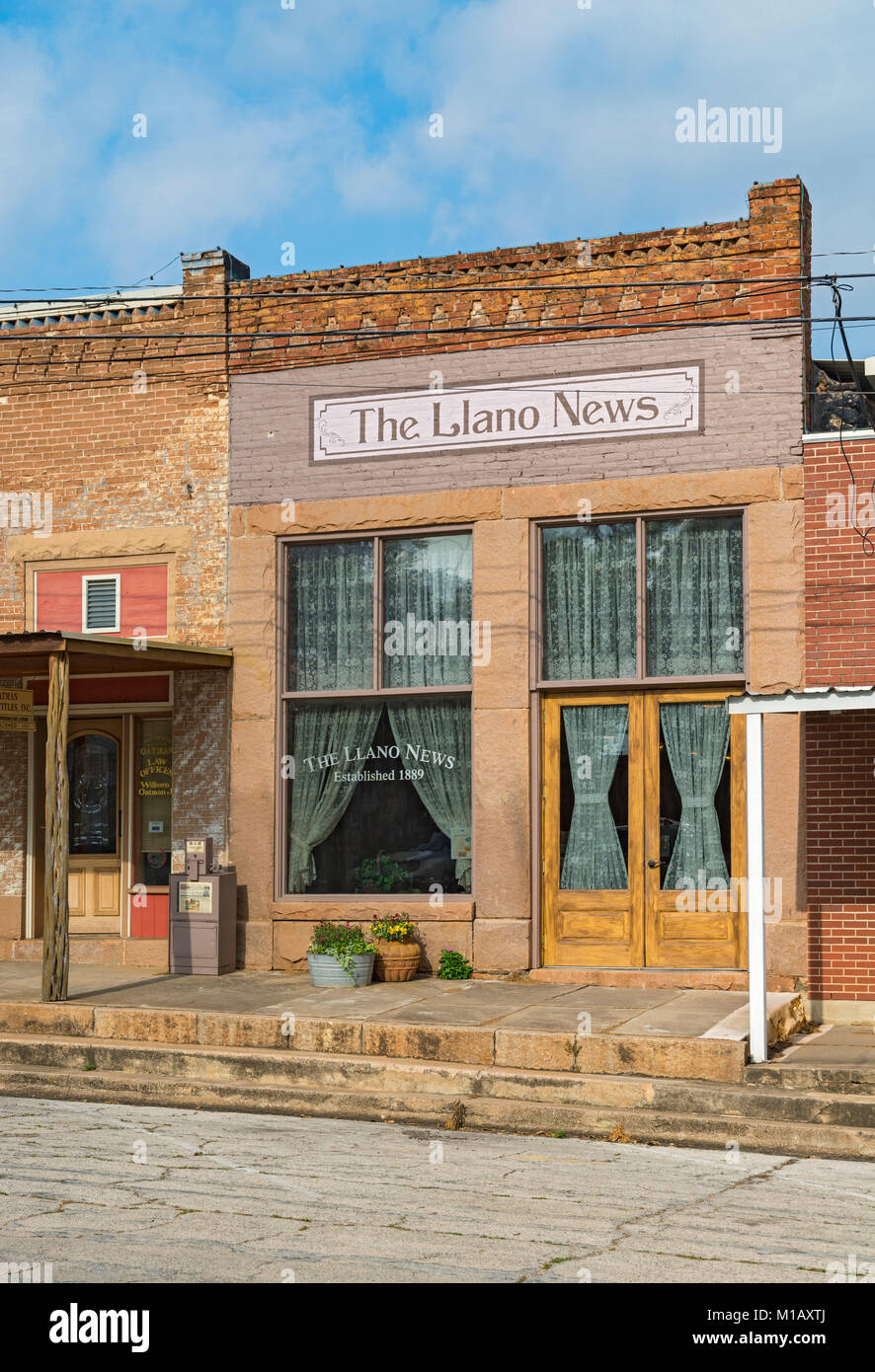 Texas, Hill Country, Llano News, est. 1889, 813 Berry Street, historic downtown - Stock Image