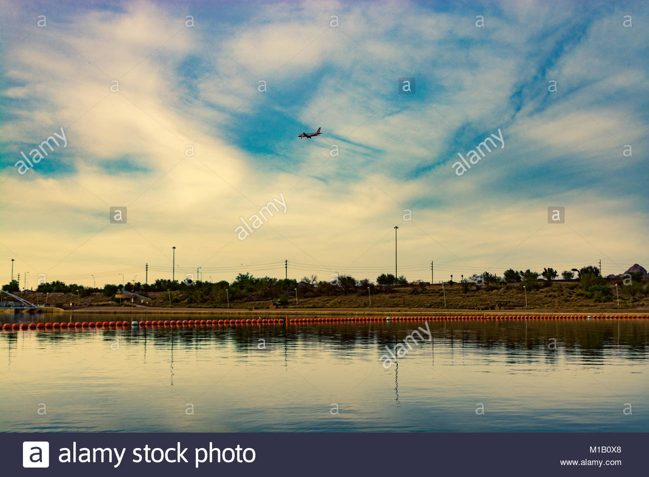 the town lake - Stock Image