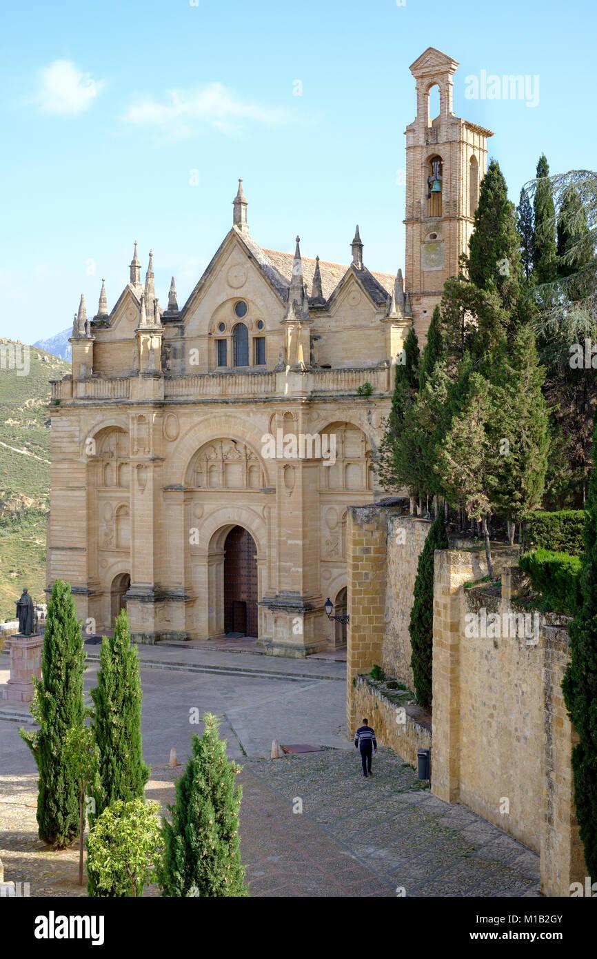 Entrance to the Royal Collegiate Church of Santa María La Mayor (Colegiata de Santa Maria la mayor), Antequera, - Stock Image