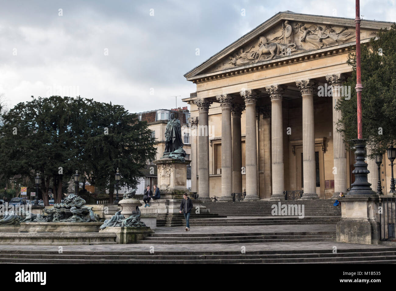 Clifton, Bristol. The Victoria Rooms (by Charles Dyer, 1838) house the Music Department of the University of Bristol. - Stock Image