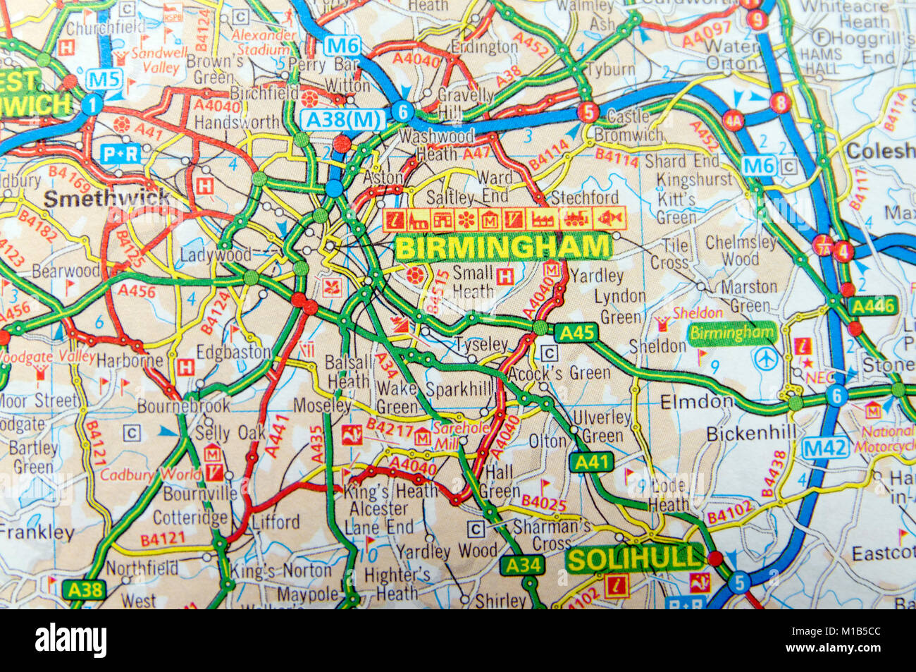 Map Of England Birmingham.Map England Birmingham Stock Photos Map England Birmingham Stock
