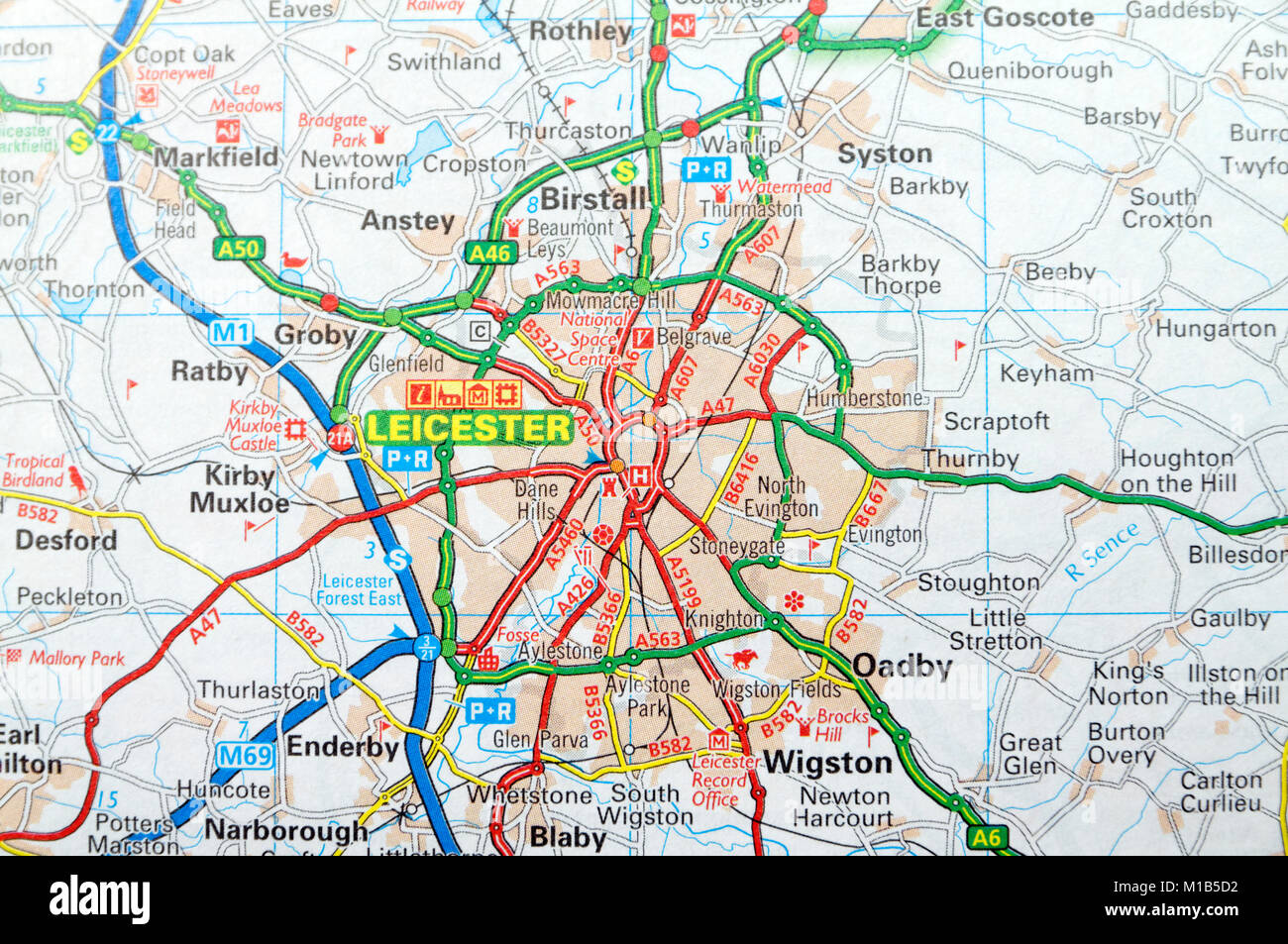 Map Of England Leicester.Map Of Leicester England Stock Photos Map Of Leicester England