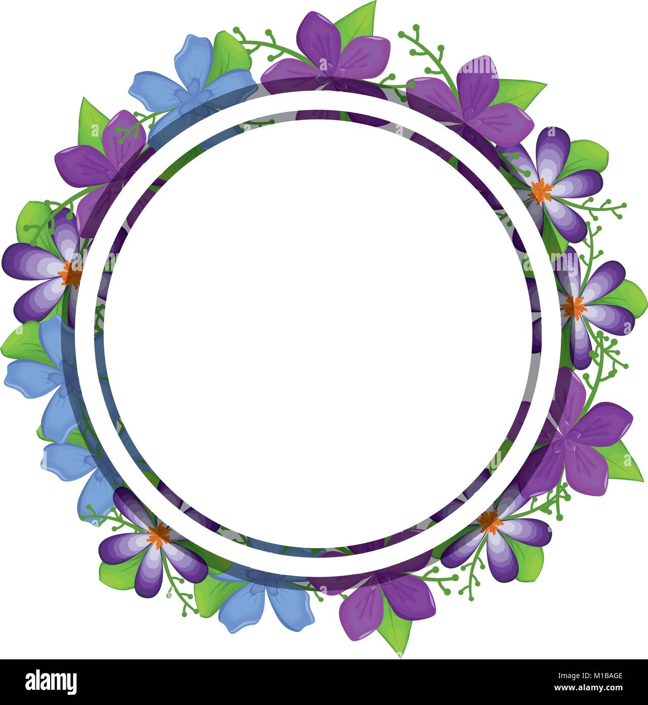 Floral Round Border Stock Photos Images
