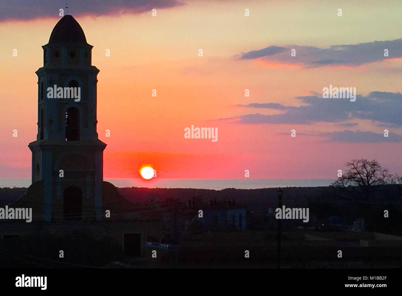 Church silhouette - Stock Image