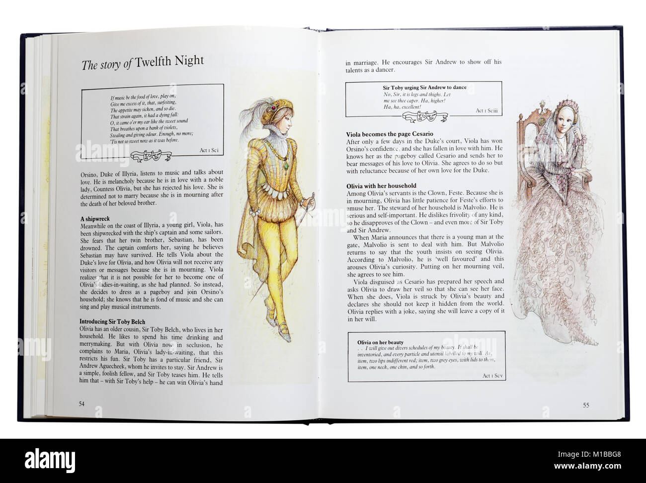 An Illustrated Book Of Shakespeares Plays Open At A Plot Summary Of