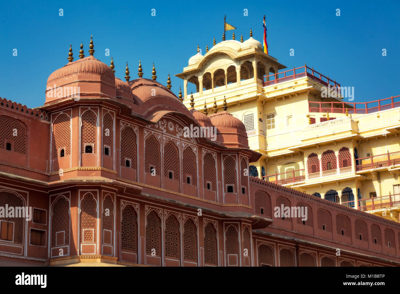 City Palace Jaipur Rajasthan - Chandra Mahal museum architecture structure - Stock Image