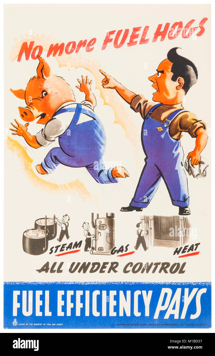 British World War II propaganda poster - Stock Image