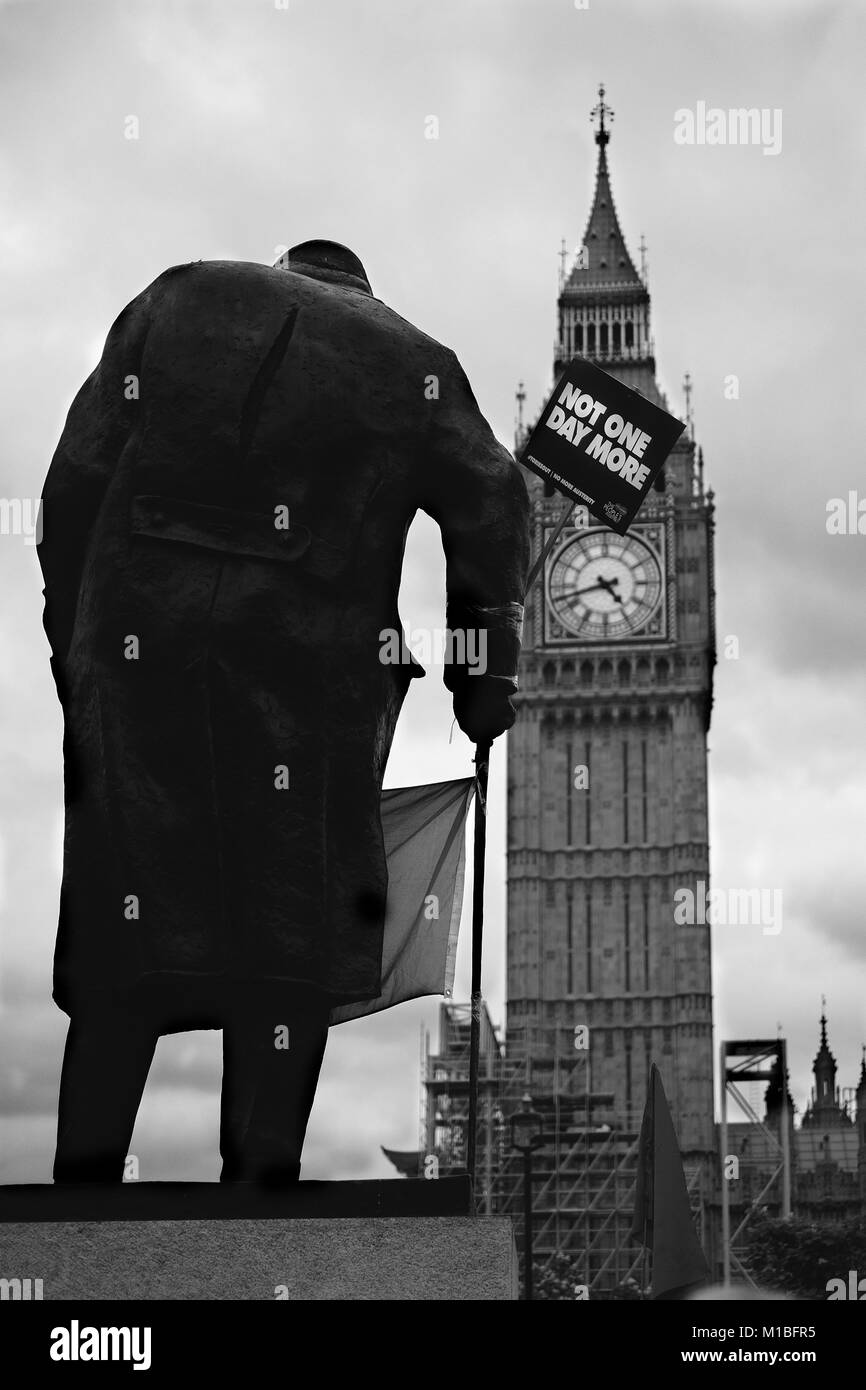 Not one day more demonstration London Saturday 1 July 2017 - Stock Image