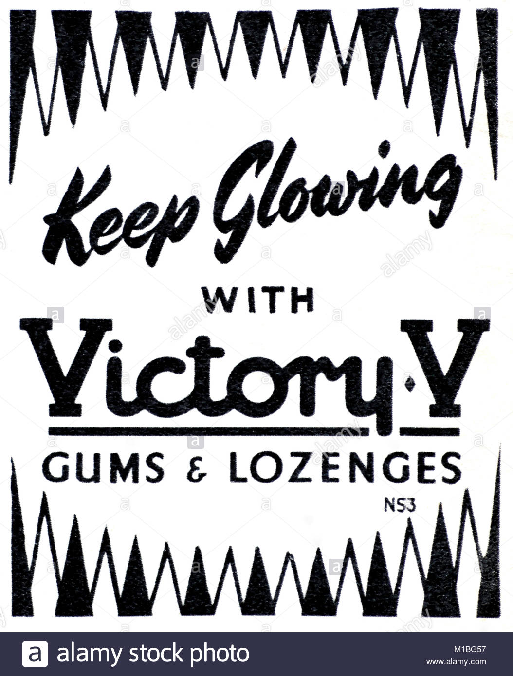 Victory V vintage advertising 1950s - Stock Image