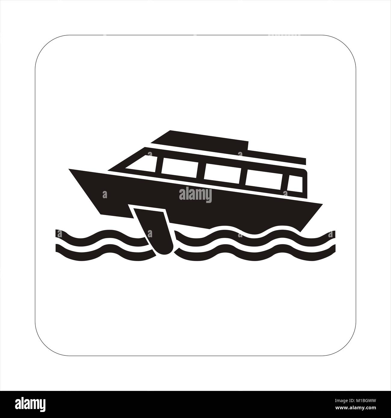River bus icongraphic - Stock Image