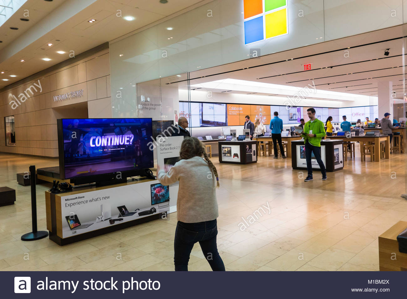 c051fd3ba6d Microsoft Store at Square One Shopping Centre in Mississauga Ontario Canada  - Stock Image