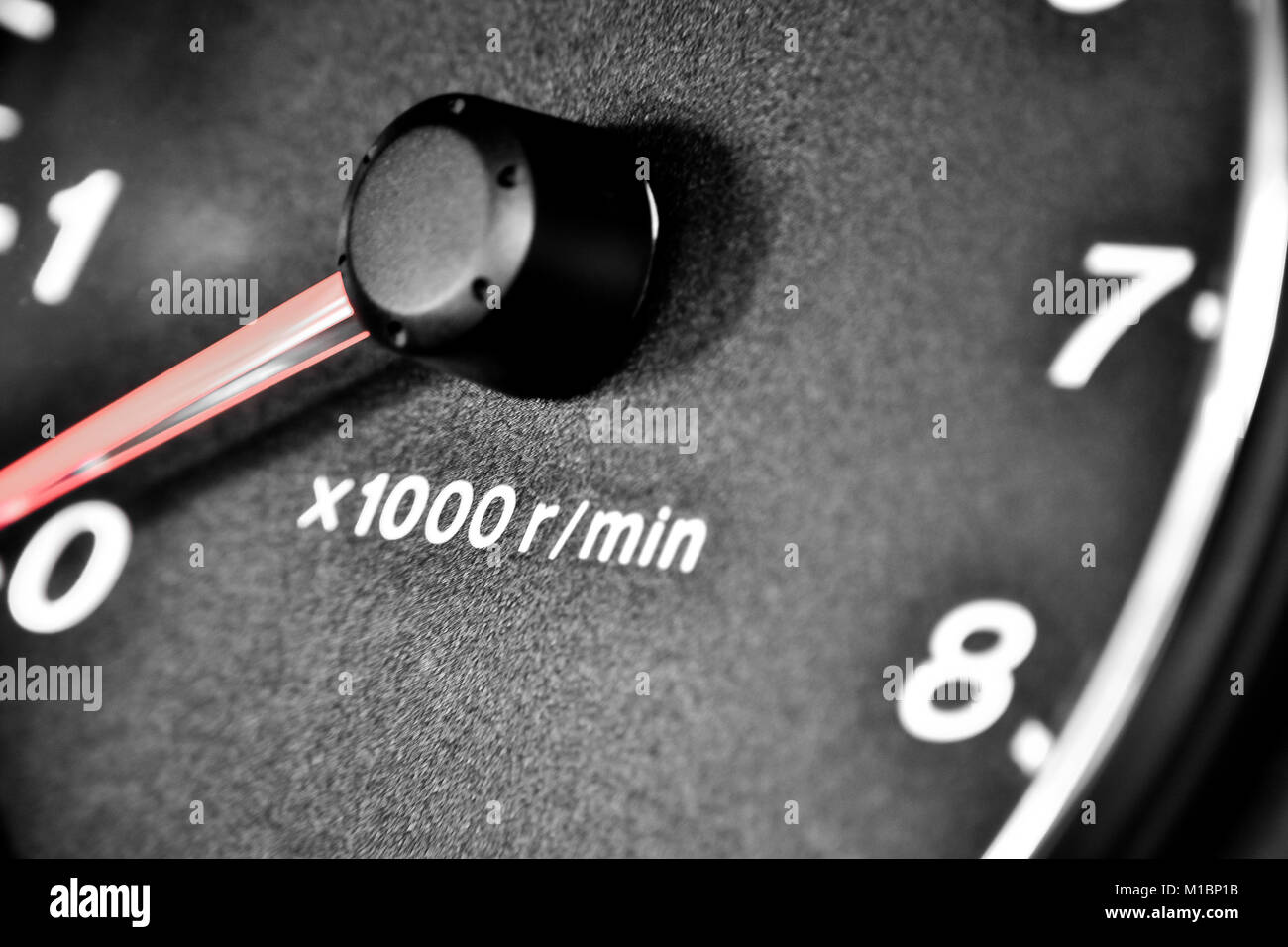 RPM - Odometer - Stock Image