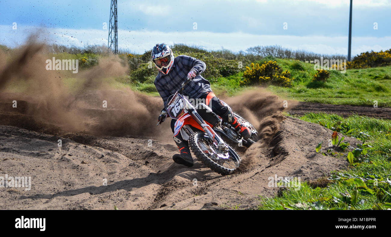 Aidan Williams Motorcross Sennen KTM - Stock Image