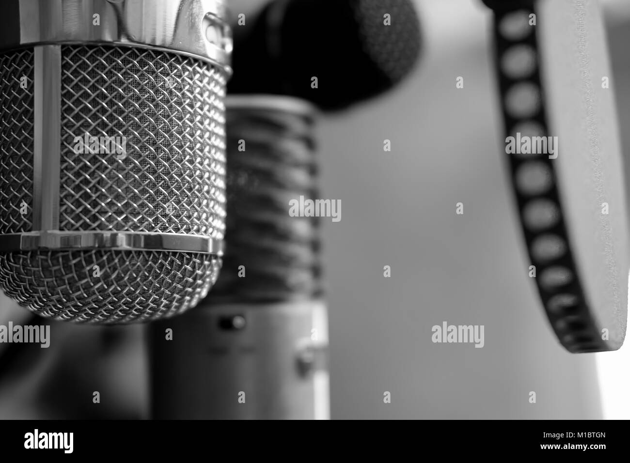 some microphones to choose from... - Stock Image