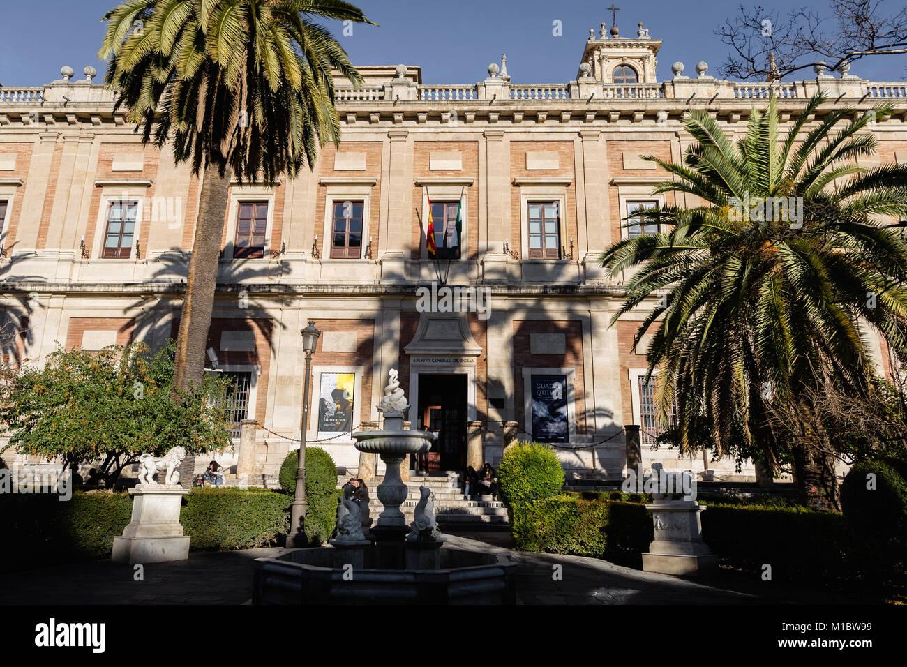 Archivo General de Indias, Deneral Archives of the Indies, Seville, Spain. - Stock Image