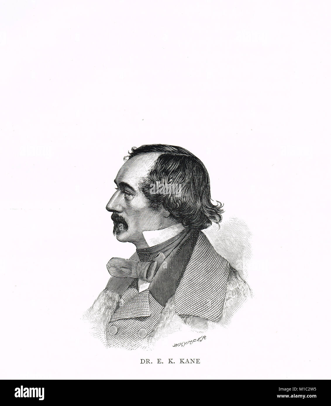 Dr Elisha Kent Kane, American Arctic explorer, 1820-1857 - Stock Image