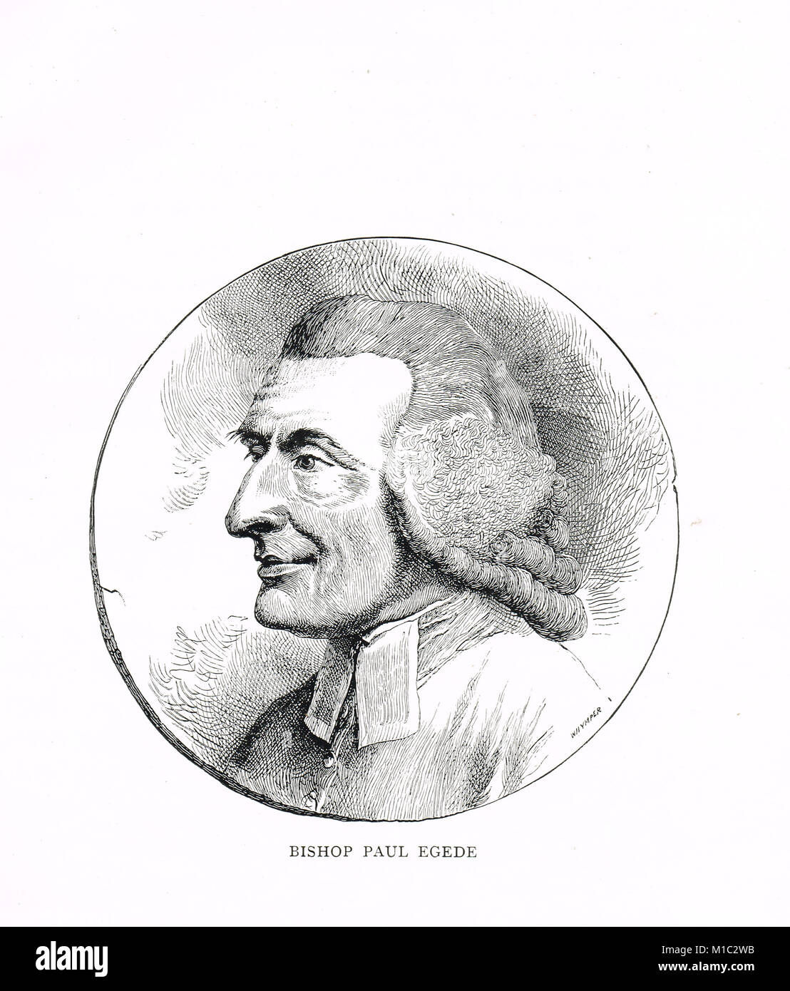 Paul Egede, Bishop of Greenland from 1779 - Stock Image