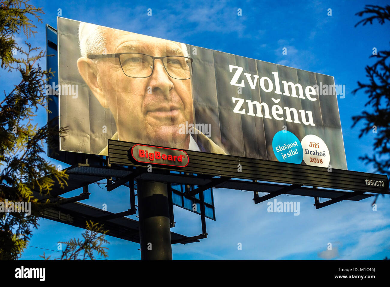 Czech elections, Presidential campaign by Jiri Drahos. Vote change, Czech Republic - Stock Image
