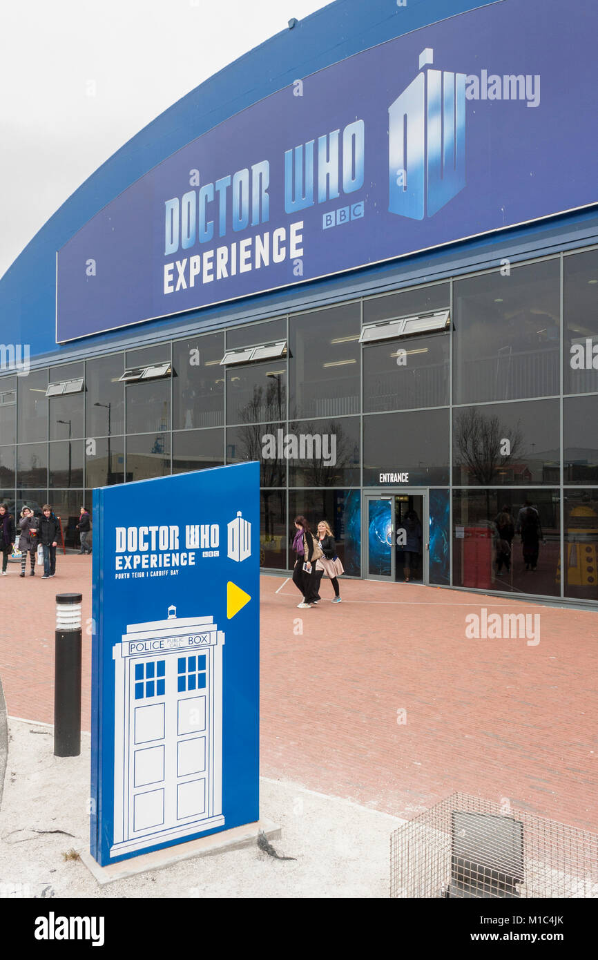 Dr Who Experience exhibition, Cardiff, Wales, GB, UK - Stock Image