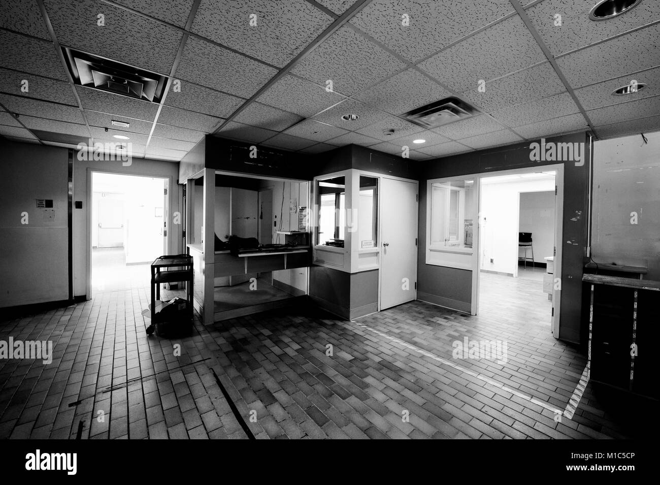 This is one of many pictures I took inside, after the Sudbury St. joseph's Health Centre (the old General Hospital) - Stock Image