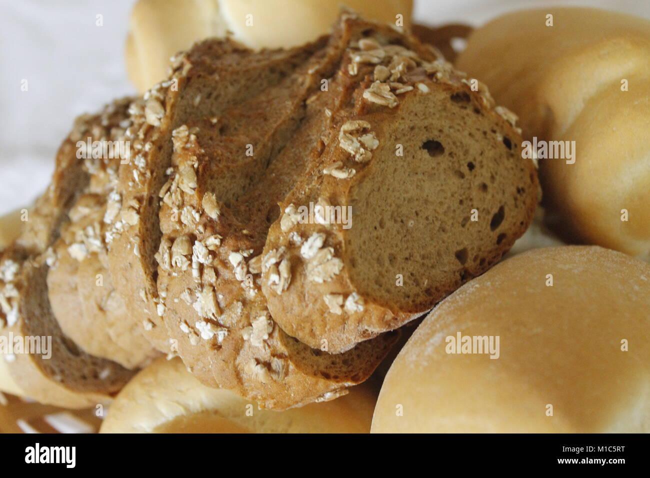 Close up of fresh bread Stock Photo