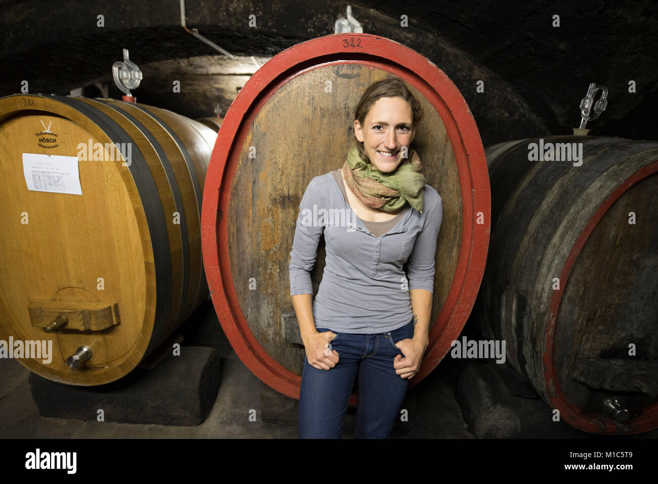 Theresa Breuer, Breuer winery, Rüdesheim, Germany - Stock Image