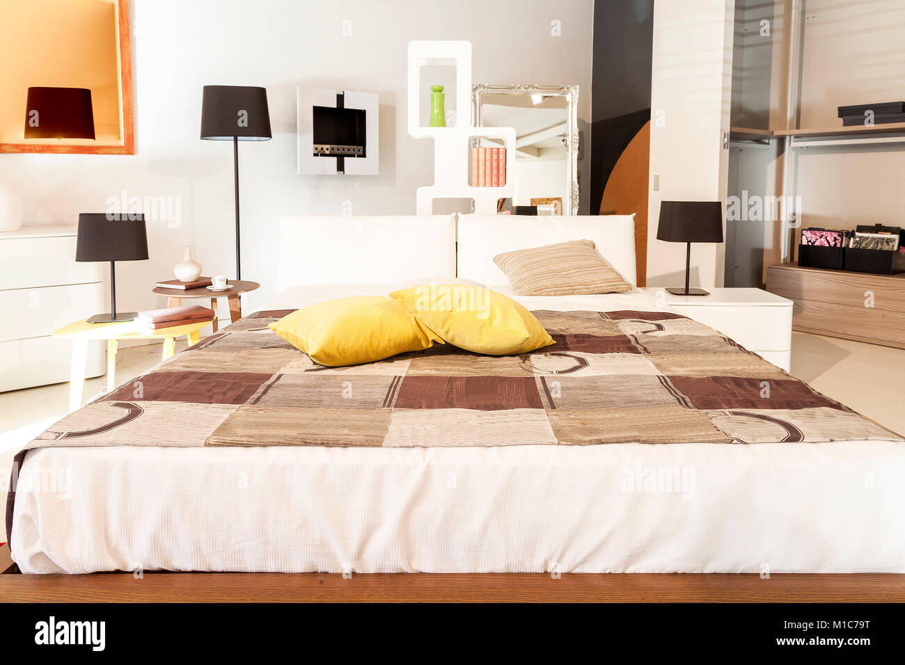 home interior modern beautiful apartment in new luxury location Stock Photo