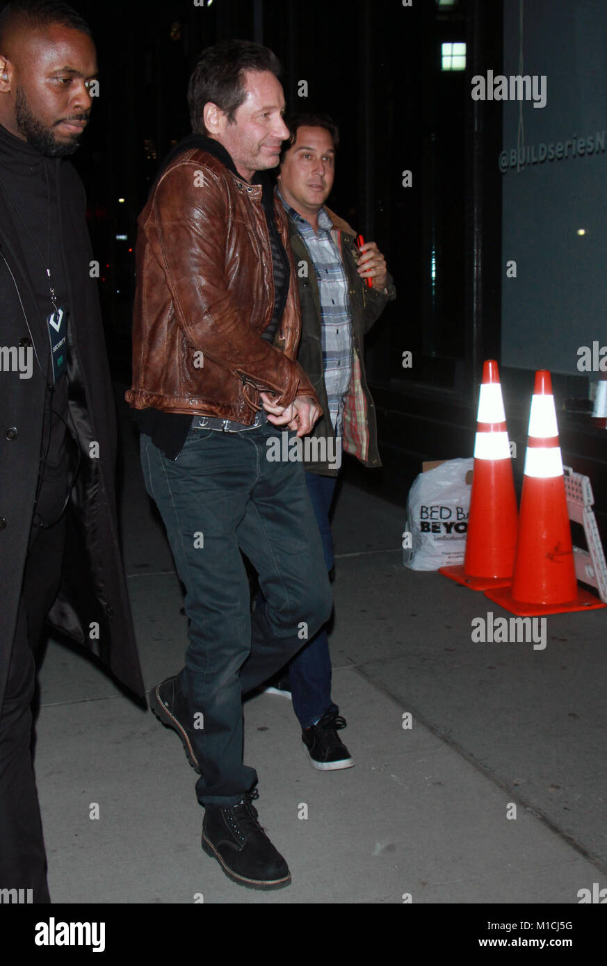 New York, NY, USA. 29th Jan, 2018. David Duchovny at Build Series promoting new season of X-Files and new music Stock Photo