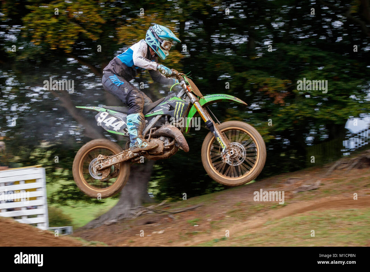 Tyrone Tugwell on the Eastwood Racing / Wiseco Honda 450 at the NGR & ACU Eastern EVO Motocross Championships, - Stock Image