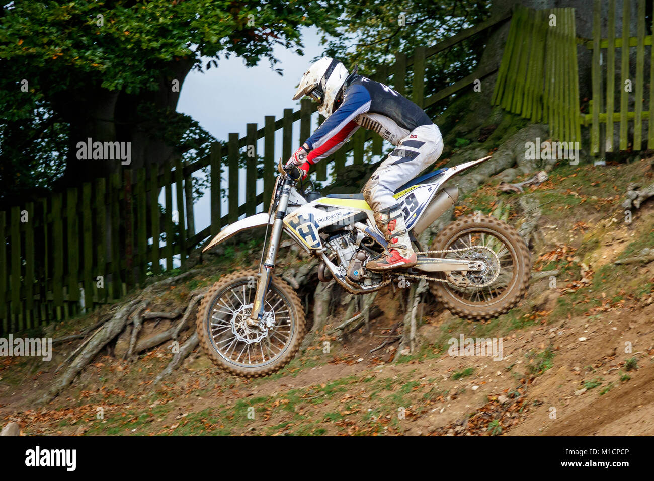 Edward Pegram on the Husqvarna 350 at the NGR & ACU Eastern EVO Motocross Championships, Cadders Hill, Lyng, - Stock Image