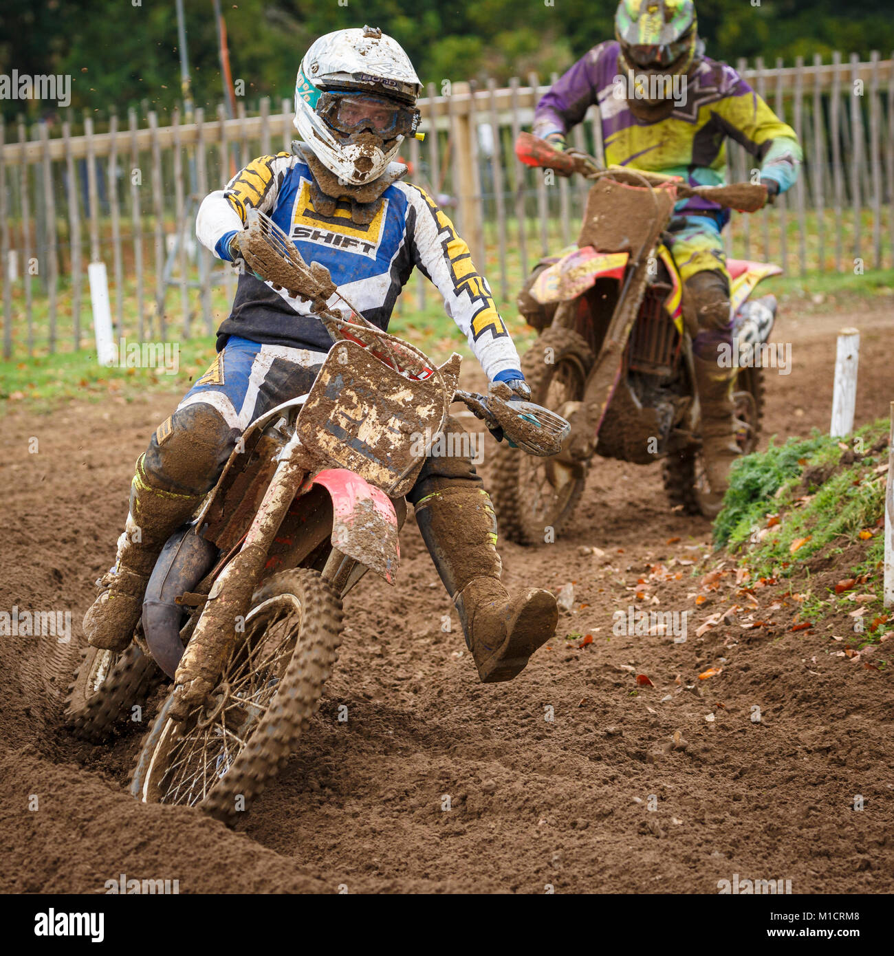 Lewis Bond on the Dave Barkshire Motorcycles KTM 125 at the NGR & ACU Eastern EVO Solo Motocross Championships, - Stock Image
