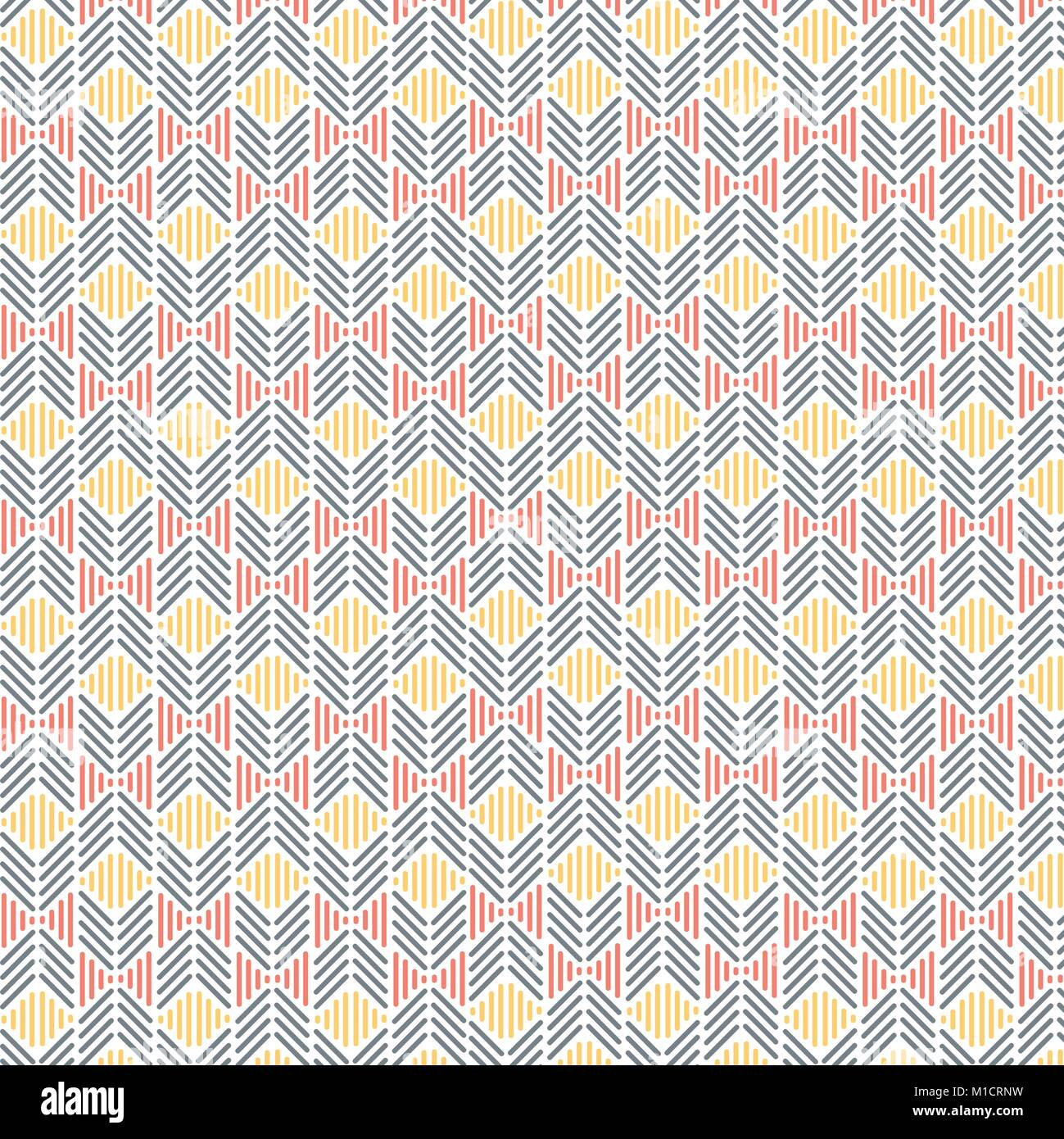 Abstract lines geometric texture vector seamless pattern - Stock Image