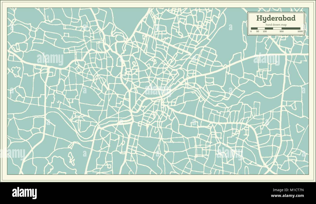 Hyderabad india city map in retro style outline map vector stock hyderabad india city map in retro style outline map vector illustration gumiabroncs Choice Image