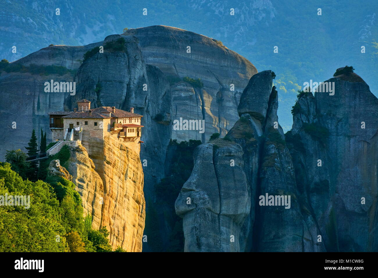 Monastery at Meteora, Greece - Stock Image