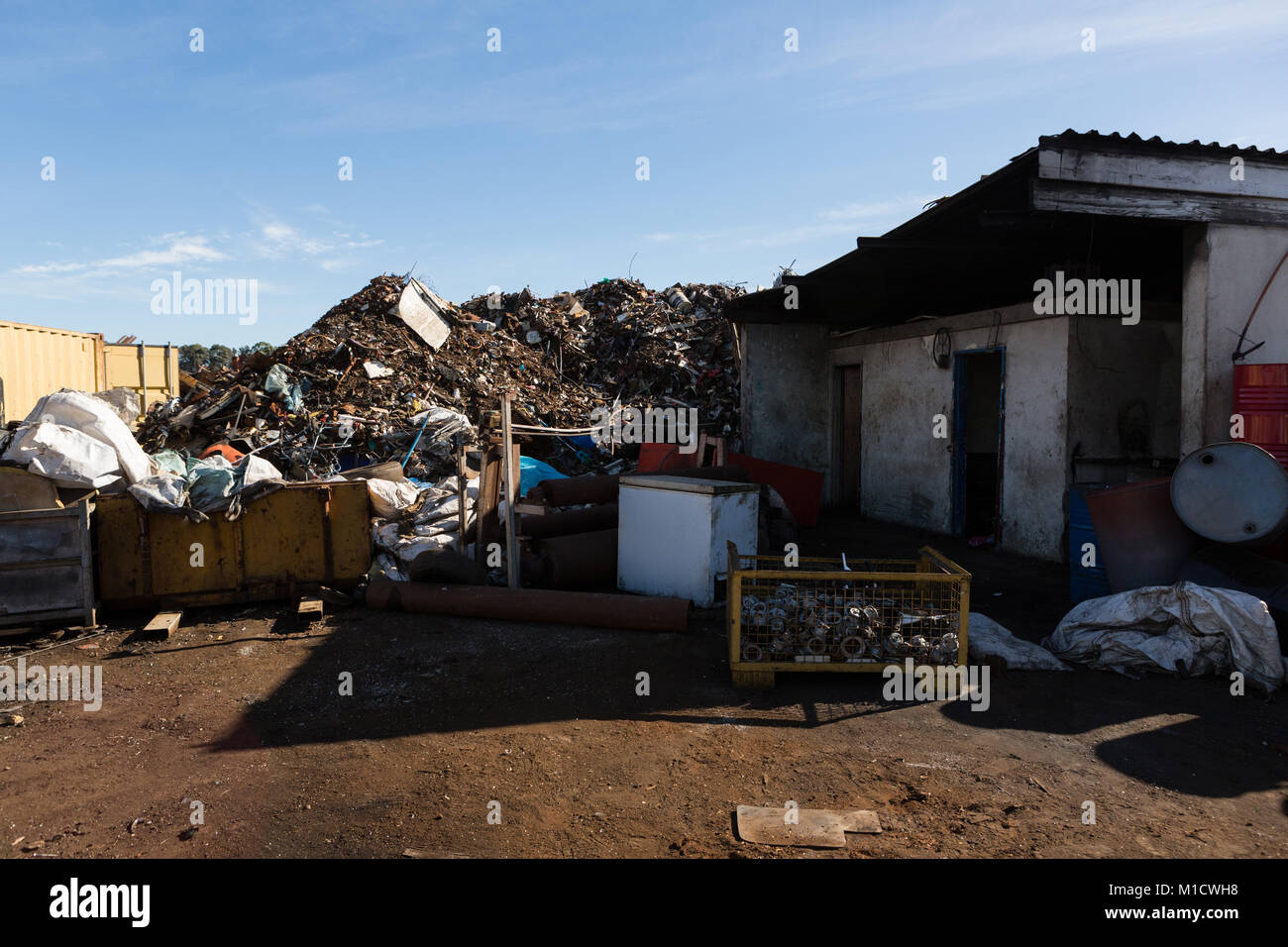 Heap of trash in the junkyard - Stock Image