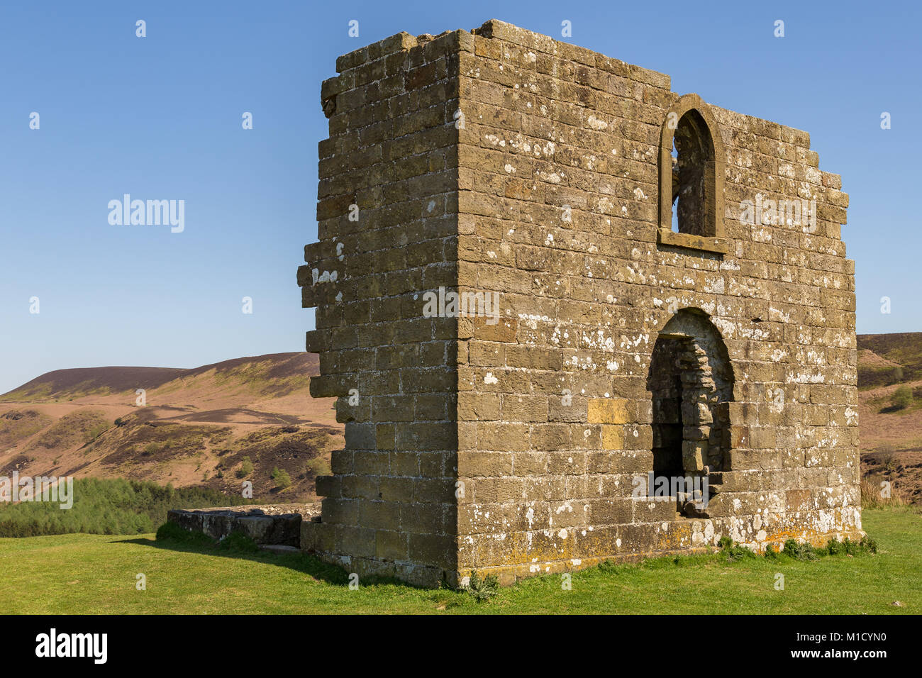 Skelton Tower in the North York Moors National Park near Levisham, North Yorkshire, England, UK - Stock Image