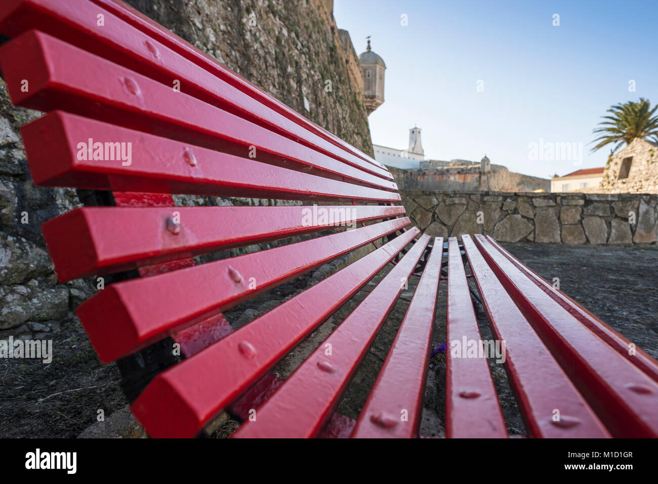Peniche Fortress & Santa Bárbara Chapel, - Stock Image